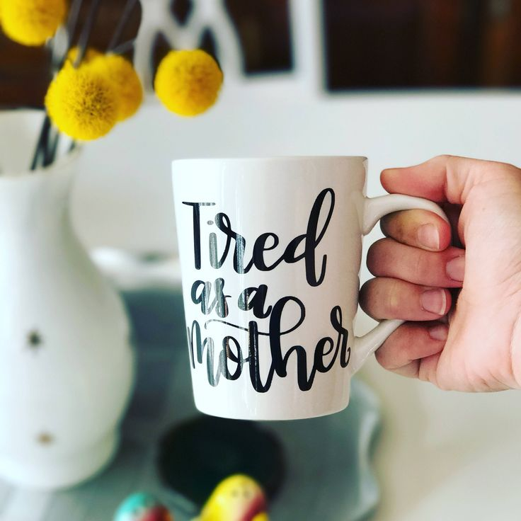 Tired as a mother mug. Theres no tired like mom tired. Makes a great gift for you or any tired momma.  Care and cleaning: Hand wash only. 14oz.