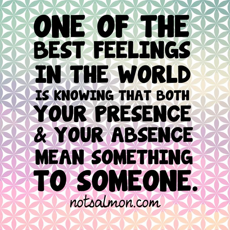 One Of The Best Feelings In The World: Knowing Both Your