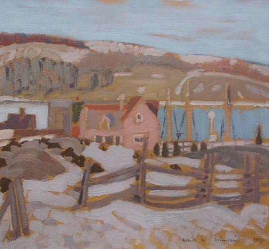 Albert H. Robinson - La Malbaie (1927) 111.25 x 13 Oil on panel