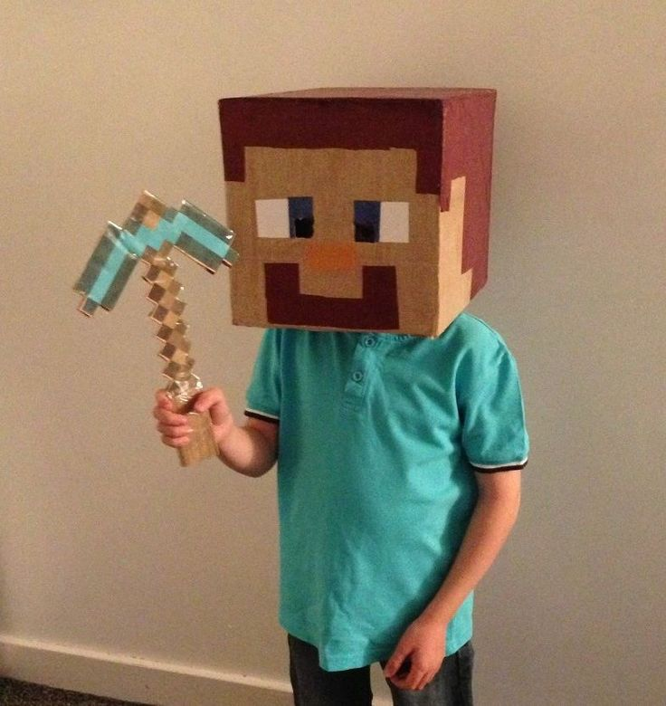 A lot of work went into this home made Steve costume. Getting ready for Halloween.  For more Steve costume visit http://www.minecraftcostumes.com