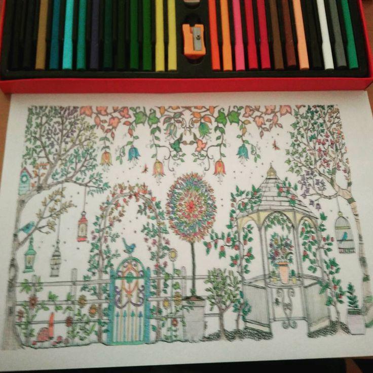 #Mandala tekniği için #mum pastel boyalarım ve biten çalışmam ;)