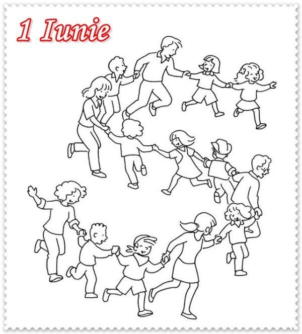 Fise De Colorat De 1 Iunie Ziua Copilului Desene Copii și