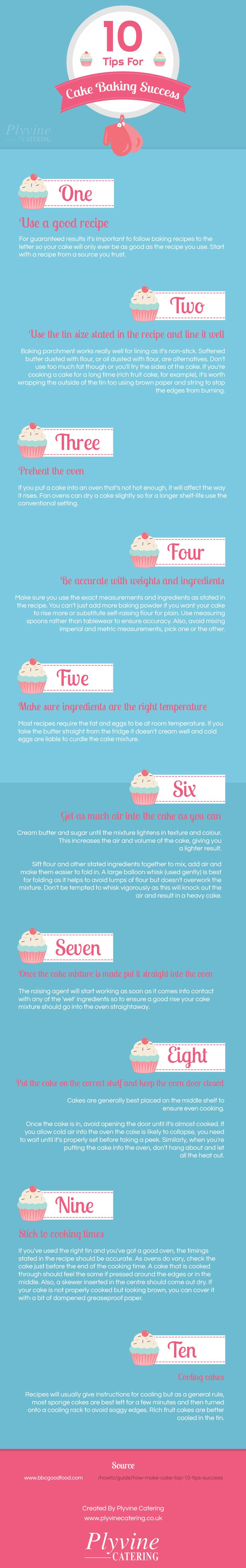 10 Tips For Cake Baking Success Infographic Latest