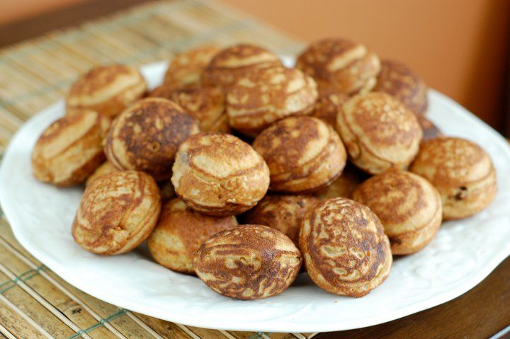 Recipe: Filled Pancakes (a.k.a. Whole-Wheat Ebelskivers) - 100 Days of Real Food: Food Recipes, Health Food, Minis Muffins, Whole Wheat Ebelskiv, Drinks Recipes, Fillings Pancakes, Healthy Food, Round Pancakes, Real Food