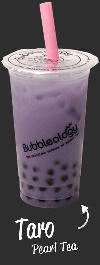 Bubbleology - London Bubble Tea. Papaya milk tea with lychee popping boba pearls was yum!