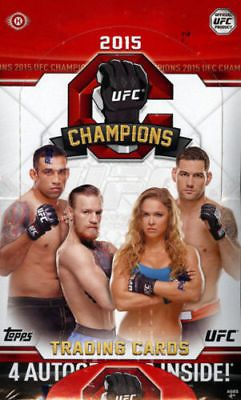 Mixed Martial Arts MMA Cards 170134: 2015 Topps Ufc Champions Hobby Box Factory Sealed Poss Mcgregor Auto -> BUY IT NOW ONLY: $67.99 on eBay!