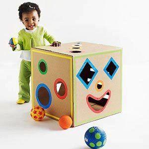 Cardboard box shape cut outs
