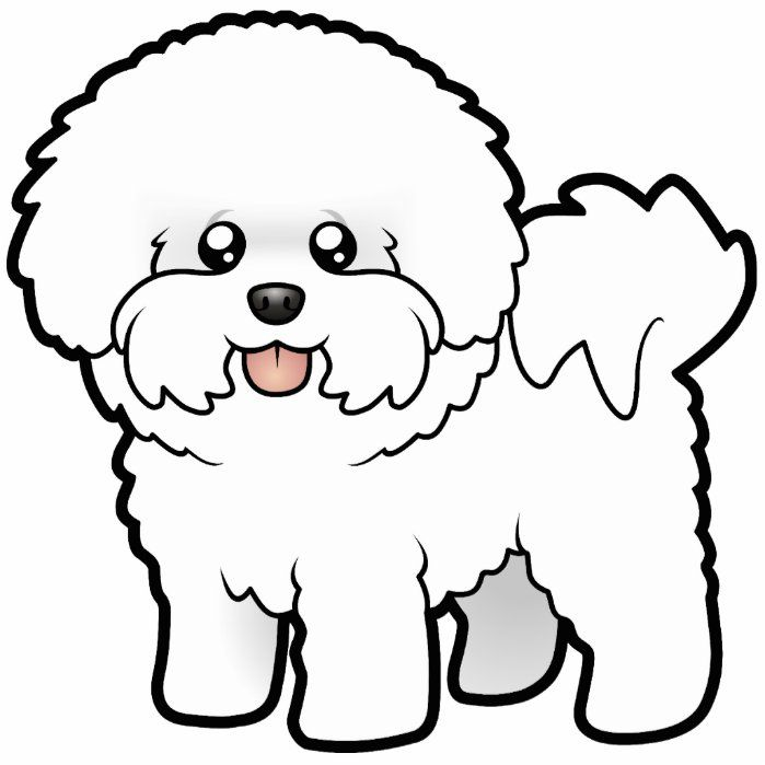 Cartoon Bichon Frise Cutout Zazzle Com Bichon Frise Art Cute Dog Drawing Bichon Frise Drawing