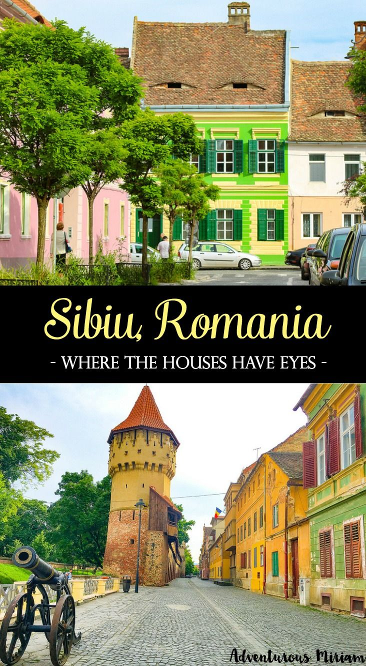 "Sibiu was voted Cultural European Capital in 2007 and named by Forbes as ""Europe's 8th most idyllic place to live"". But that's not why you should visit. No, this city has something far more unique and interesting: first of all, it's based in Transylvania, the home of Count Dracula, and second of all: the houses have eyes. And they are watching you. Here's what to see and do in Sibiu, Romania."