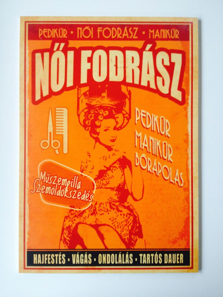 Retro Beauty Salon, Budapest. 30€ + delivery. This is a unique 27×39 cm, specially direct printed 5mm thick PVC plate to decorate your walls, furniture, office, etc. You can order here: hello/@/artmarket.hu :: Also available on canvas, see link: http://artmarket.hu