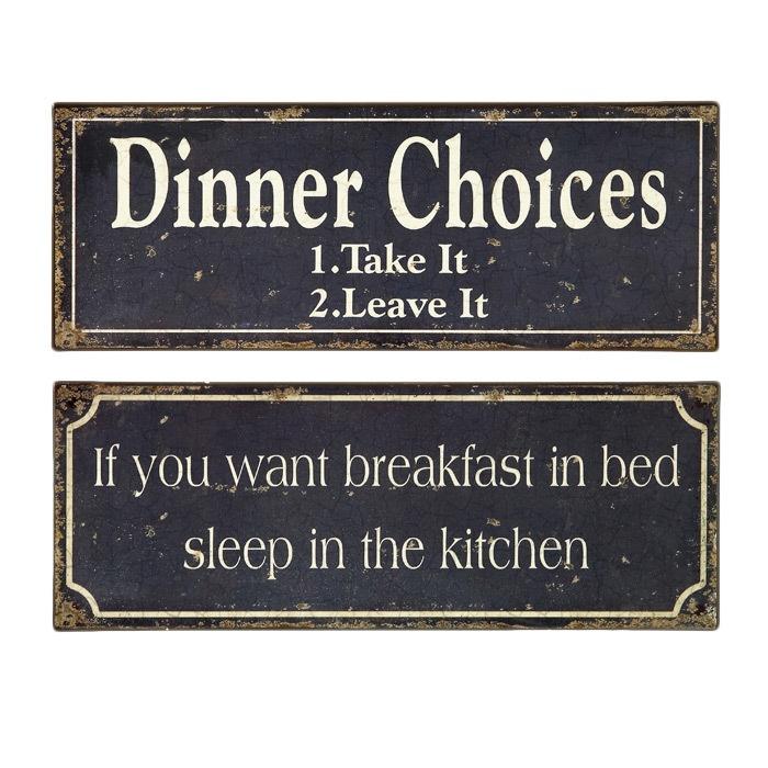 2 Piece Breakfast & Dinner Sign Set
