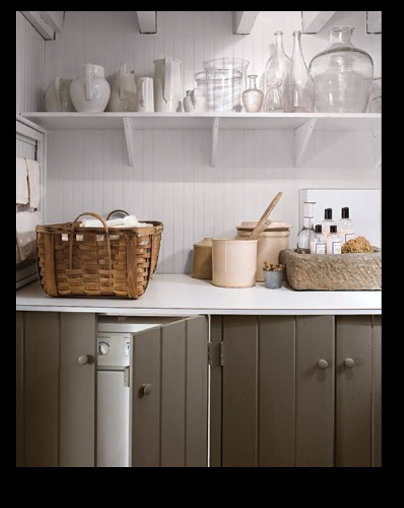 Utility room - using doors to hide appliances without integrated units