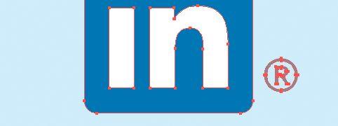 LinkedIn [in] boxes for print