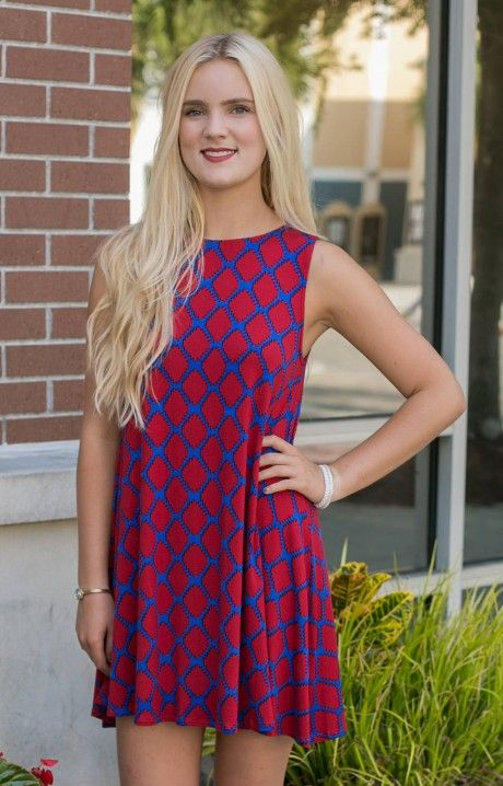 Hourglass Lilly Ole Miss Priss Dress is the perfect look for GAME DAY! The crew neckline and loose fit skirt on this pico dress makes for a great fit. Perfect for Southern Methodist, Ole Miss, Kansas, and more!