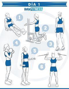 Plan de #entrenamiento de 5 días para chicas que quieran estar en forma!