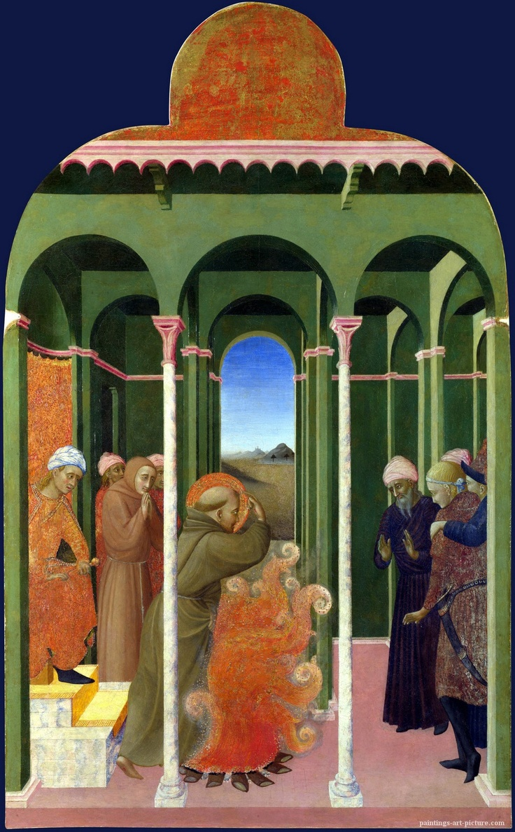 St Francis before the Sultan 1437-44 Sassetta