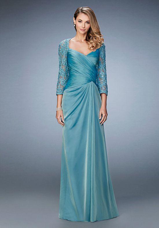 47389fc8919 La Femme Evening 21805 Blue Mother Of The Bride Dress