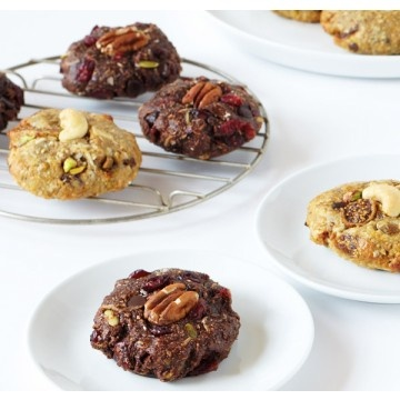 Muscle Masala cookies. Chocolate Cherry Cardamom and Vanilla Fig Saffron