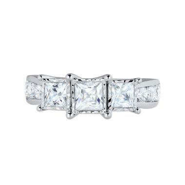 Awesome T W Princess Diamond Stone Engagement Ring found at