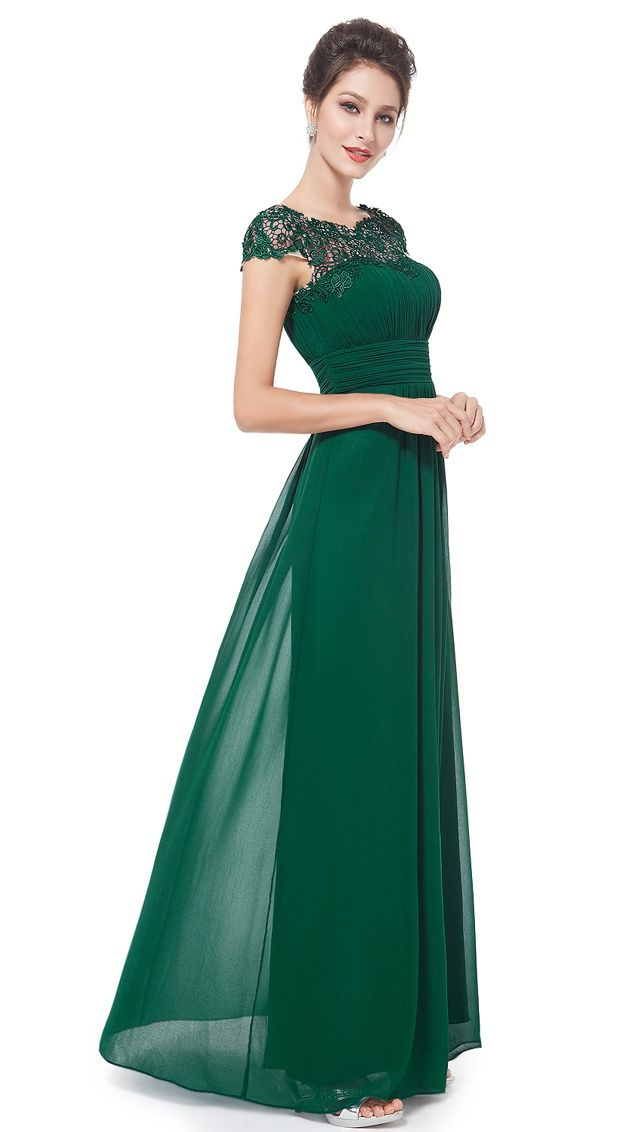 751444652b66 Ever-Pretty Women s Elegant Long Cap Sleeve Lace Neckline Formal Evening  Prom Mother of the Bride Maxi Dresses for Women 09993 (Black 4 US) Sleeve
