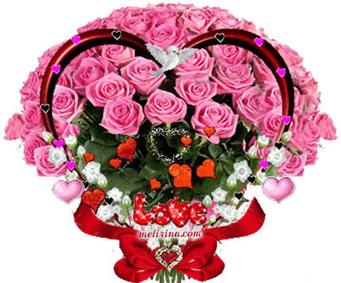 Красивые букеты роз анимационные открытки, танюше