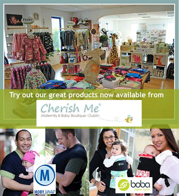 This week's retailer spotlight is Cherish Me based in Dublin, Southern Ireland, leading stockists of luxury brands in maternity, and baby accessory brands including Boba Buckle Carriers and Moby Wraps.   Shop online for next day delivery or visit them in store for expert advice ... http://www.cherishme.ie/