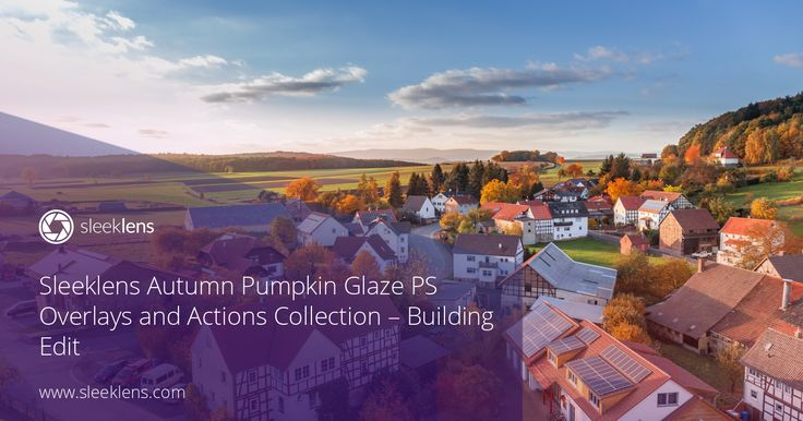 Sample edit of the Autumn Pumpkin Glaze Photoshop Workflow