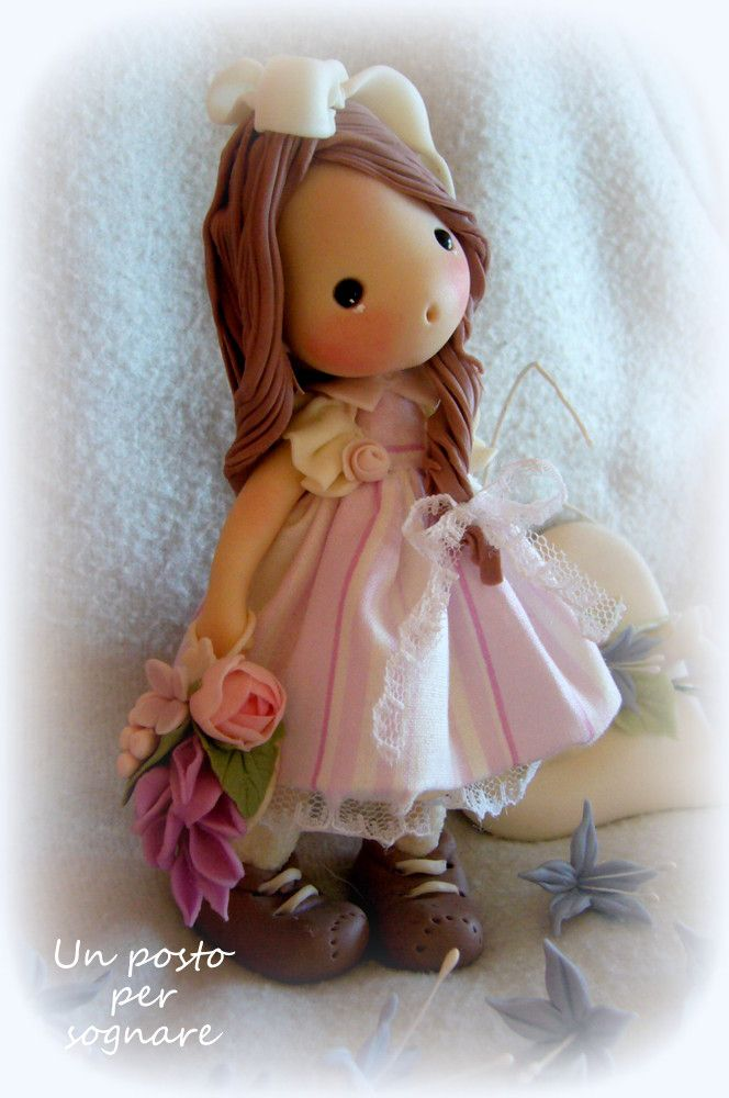 doll porcelana fria,bambolina porcellana fredda,s.valentino,polimer clay,