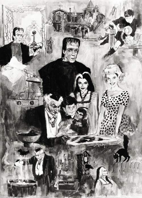 Original Storyboard art for the The Munsters TV show. #vintage #Halloween #1960s