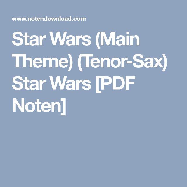 star wars alto sax sheet music pdf