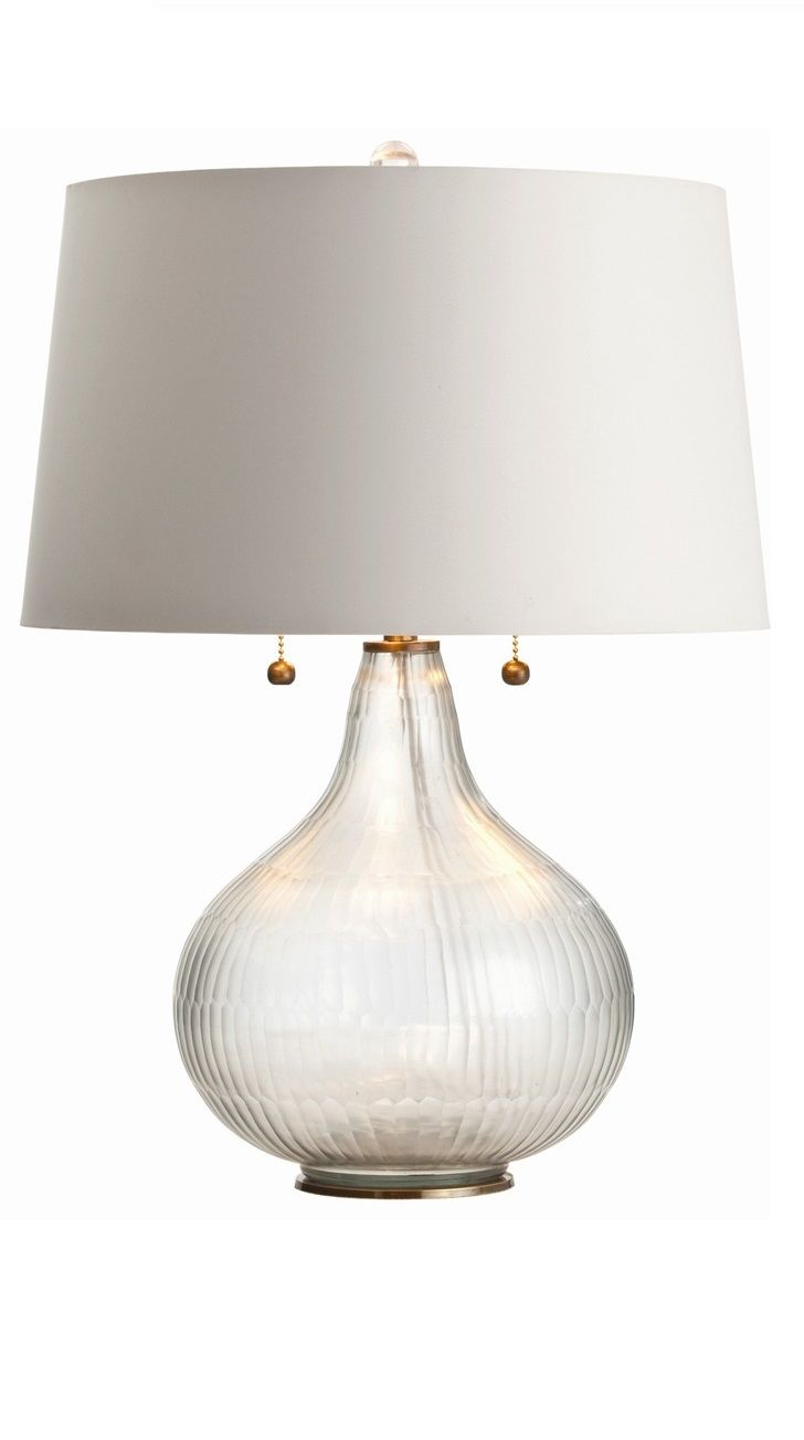 Let Your Interior Bask In The Sophisticated Glow Of This Chiseled Glass Lamp  With Brass Accents. Marilyn Glass Lamp From Plantation