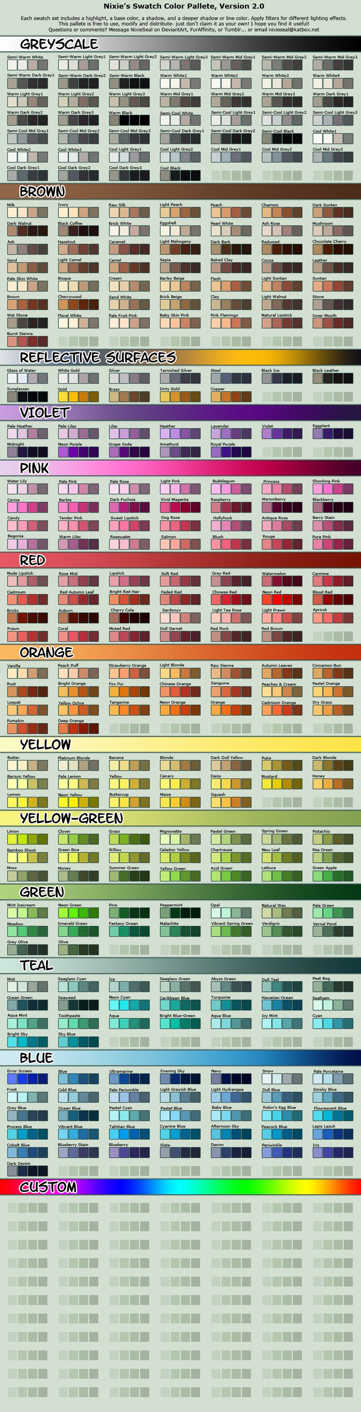 Vibrant Cell-shading Swatch Pallete by NixieSeal.deviantart.com on @deviantART