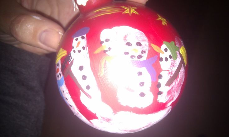 Ornament with af handprint