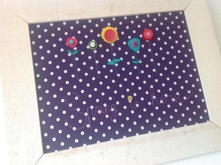 Spring is here. Multi-project: borduren met naaimachine, vilt, knopen, stof