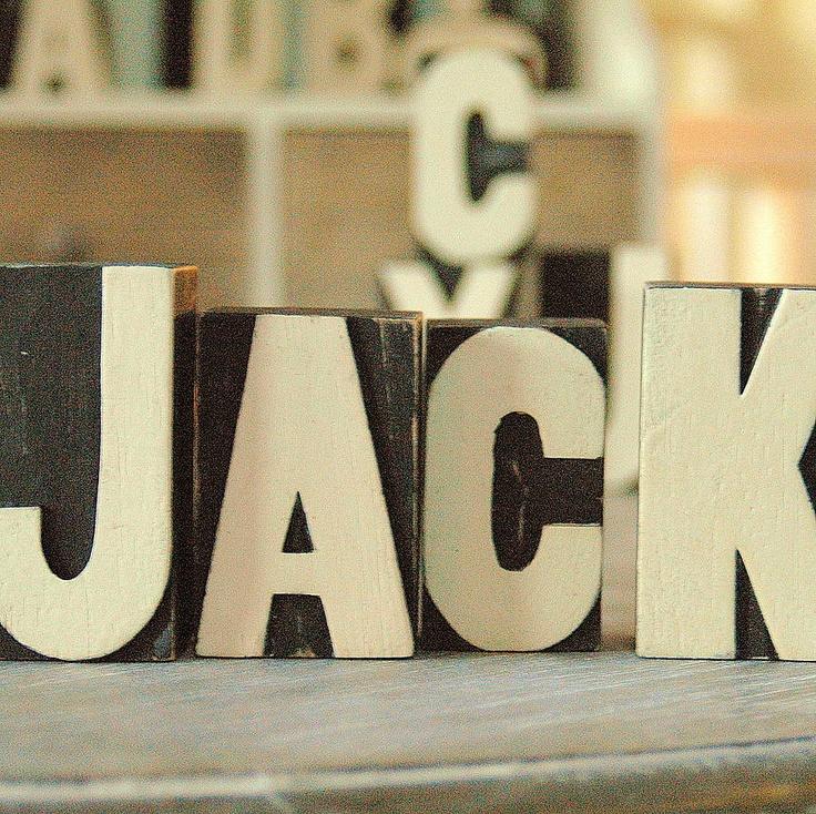 Wooden Printers Block Letters