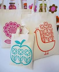 Some of my screen printed bags