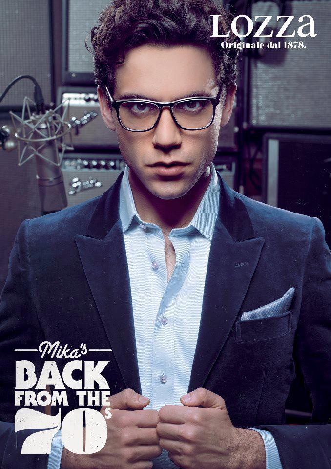 Mika featuring in his new line for glasses, for Lozza !!