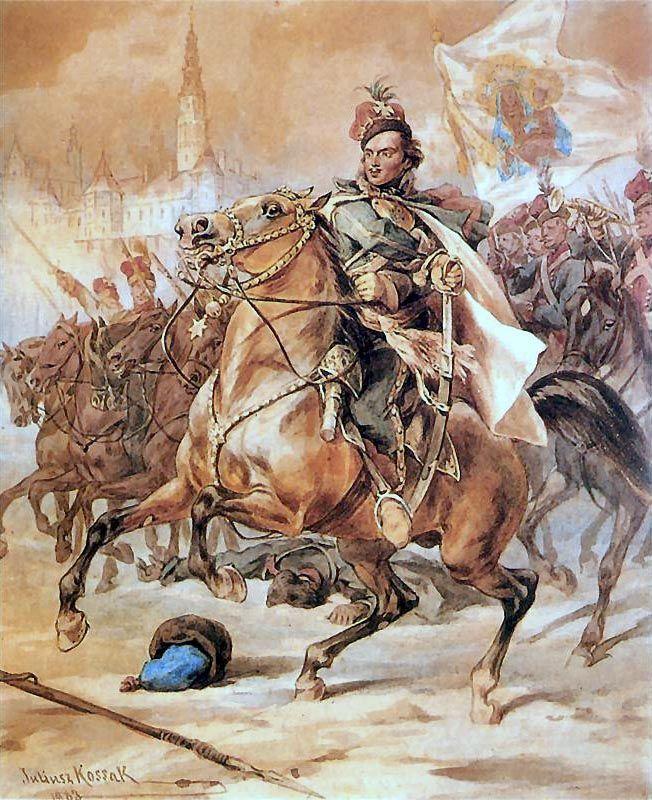 Casimir Pulaski in the Battle of Czestochowa - Juliusz Kossak