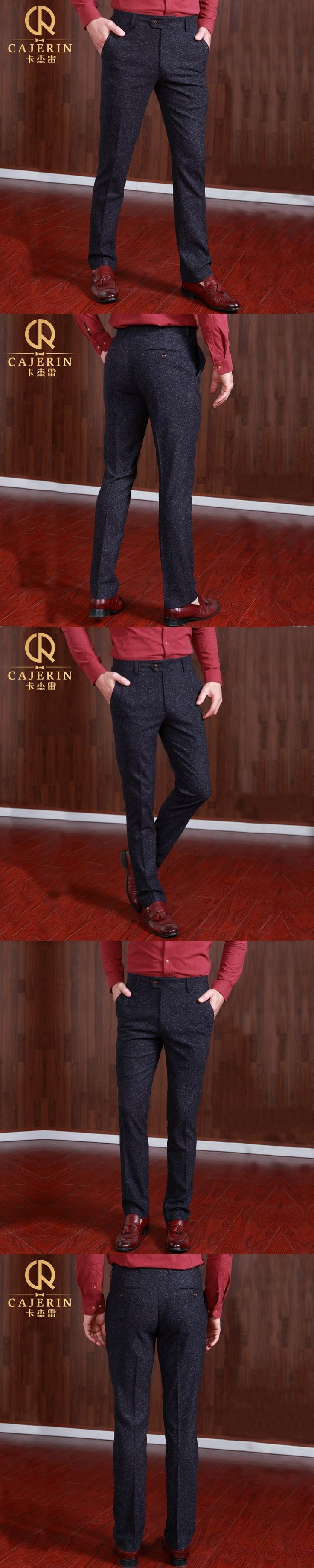 Pre Sale Mens Dress Pants Formal Business Suit Slim Trousers Men Suits Pant Winter Thicken Casual Wedding Groom Trouser