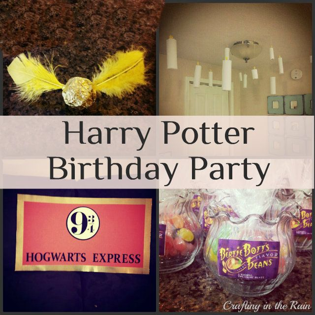 Harry Potter Birthday Party. Lots of fun ideas!