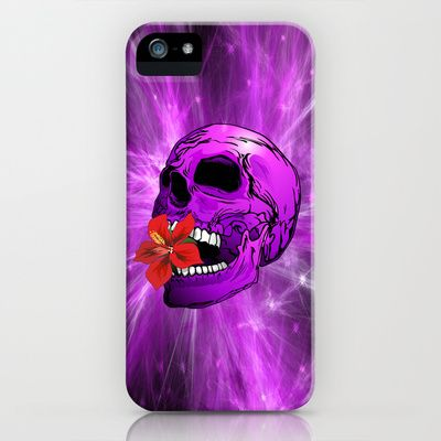ღNEW #Design on #Society6 !ღ   #Purple #Sugar #Skull with #Hibiscus #Flower ! #iPhone / #iPod #Cases !   http://society6.com/BluedarkatLem/Purple-Sugar-Skull-with-Hibiscus-Flower_iPhone-Case