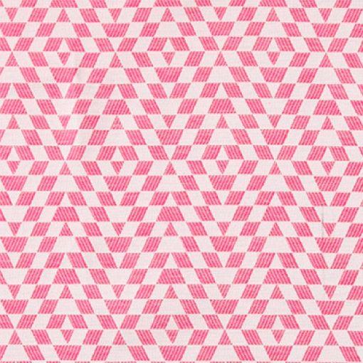 Jacquard cerise/rosa grafiskt mönster