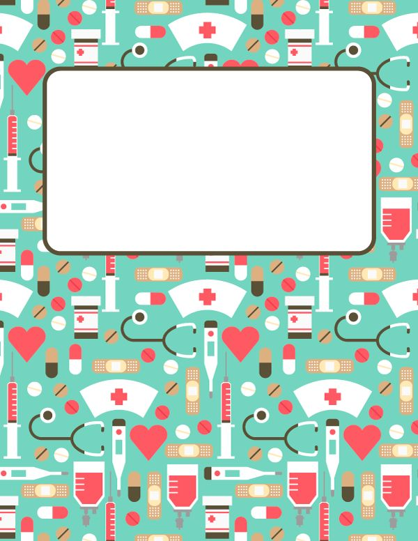 Free printable nursing binder cover template. Download the cover in JPG or PDF format at http://bindercovers.net/download/nursing-binder-cover/