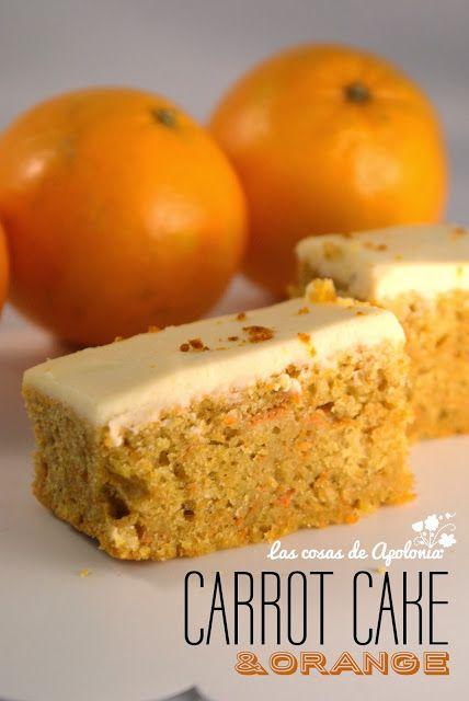 Bizcocho de zanahoria con crema de queso y naranja - Las cosas de Apolonia