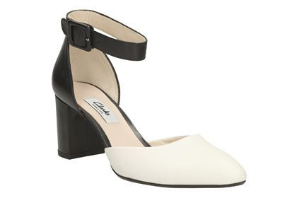 Womens Smart Shoes - Blissful Charm in Black/White from Clarks shoes