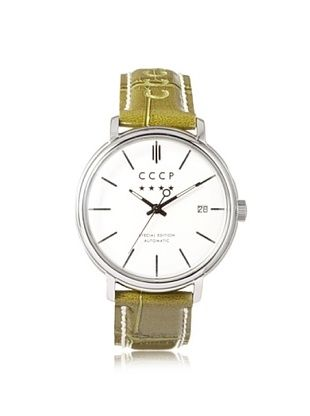 75% OFF CCCP Men's 7019-04 Heritage Green/Silver White Stainless Steel Watch