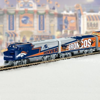 Collectible NFL Football Denver Broncos Express Electric Train Collection