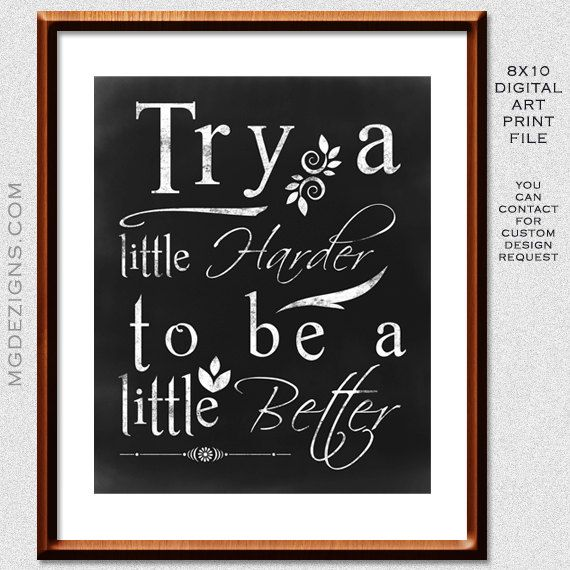 Pinterest Inspirational Quotes: Printable Chalkboard Typography Inspirational Quote