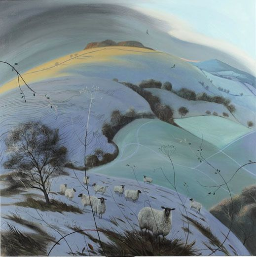 Nicholas Hely Hutchinson  Cold Morning near Compton Abbas