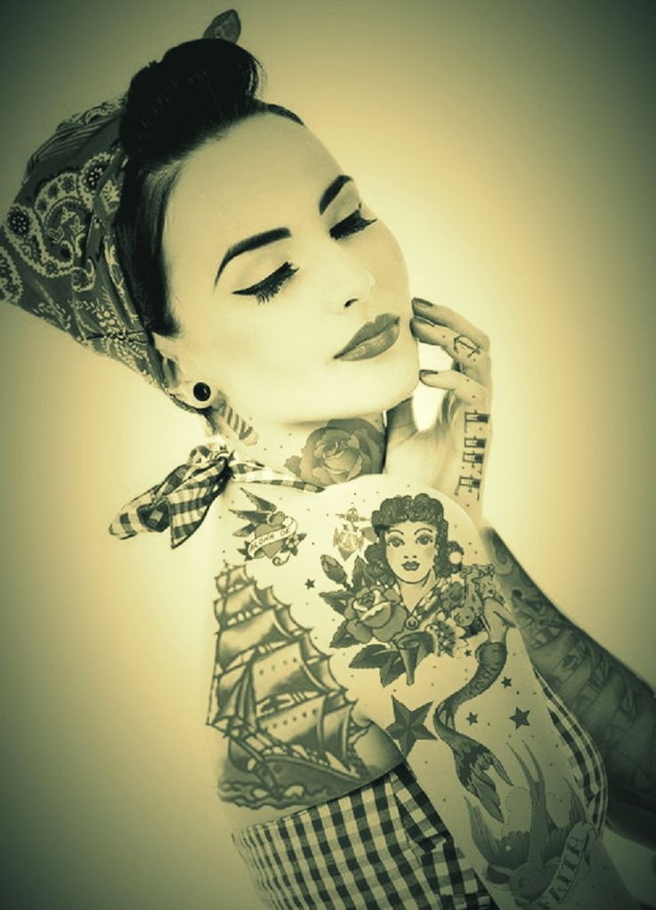rockabilly style, wifey would look great in this